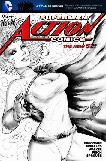 Powergirl Sketchcover